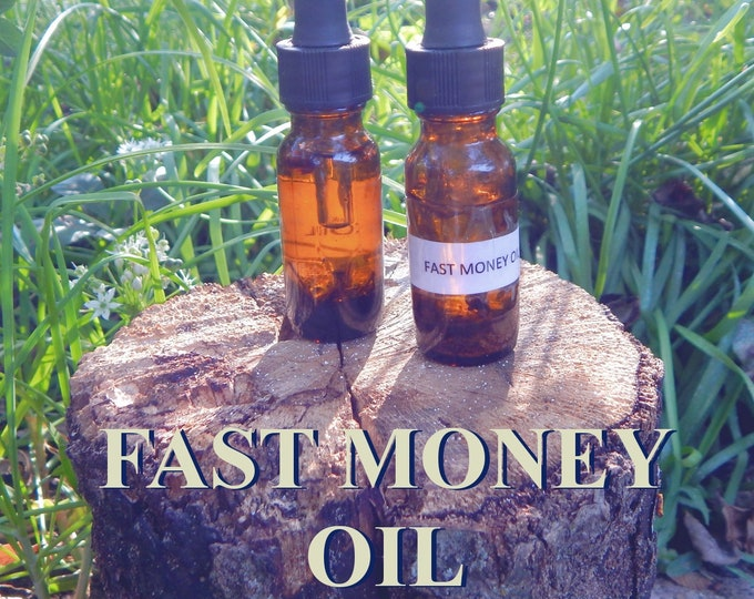 FAST MONEY OIL 15ml - Prosperity, Money, good fortune for candles altar anointing - handmade with essential oils & herbs