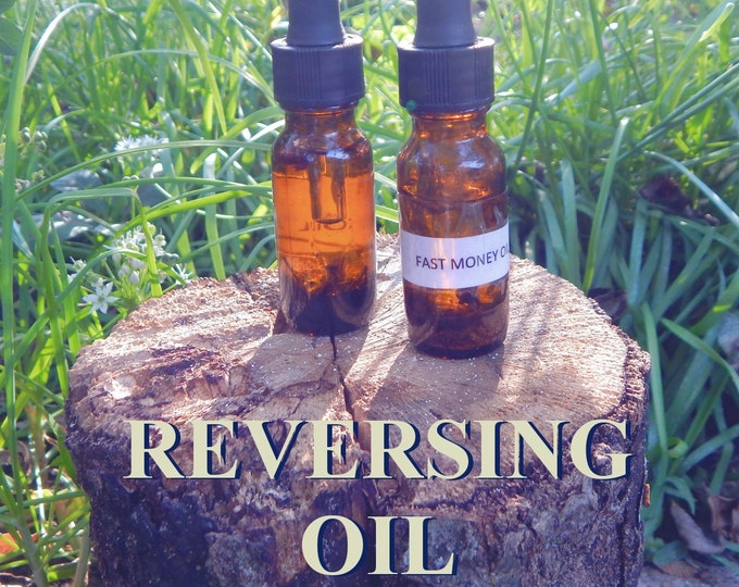REVERSING OIL 15ml - Reverse negativity, remove obstacles, block buster for candles altar anointing - handmade with essential oils & herbs