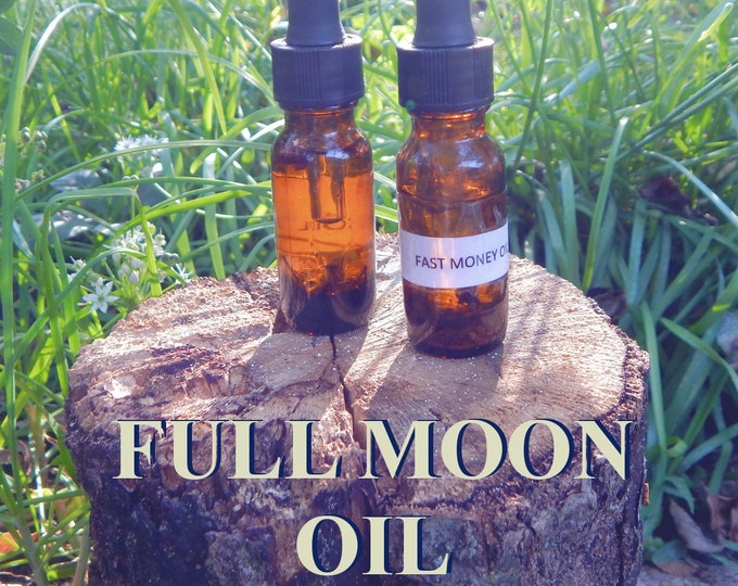 FULL MOON OIL 15ml - Divination, blessings, Moon Goddess for candles altar anointing - handmade with essential oils & herbs