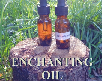 ENCHANTING OIL 15ml - Attraction, forget me not, it's mine oil for candles altar anointing - handmade with essential oils & herbs