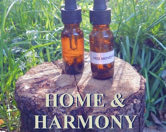 HOME HARMONY OIL 15ml - Harmony, clearing, no bad vibes allowed! for candles altar anointing - handmade with essential oils & herbs