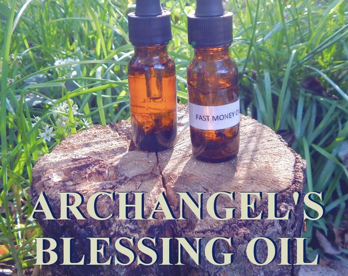 ARCHANGEL'S BLESSING OIL 15ml - Blessings, abundance, protection for candles altar anointing - handmade with essential oils & herbs