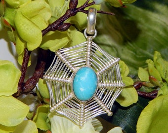 Alluring Astral Vampire inspired vessel - Handcrafted Larimar pendant necklace