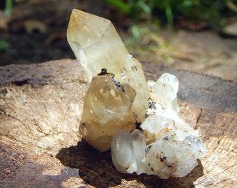 DOLPHIN TWIN Ferruginous Quartz Cluster 72g Specularite Hematite Limonite included gemstone - Reiki Wicca Pagan Geology gemstone specimen