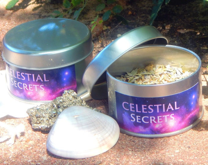 RITUAL Bath Tea kit in a TIN - Hand-crafted with organic herbs including reusable cheesecloth bag - Wicca Pagan Spiritual Holistic