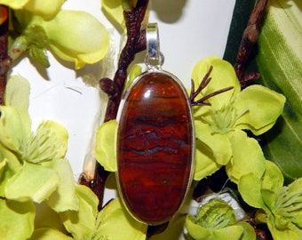 Were-Coyote Shifter inspired vessel - Handcrafted Red Jasper pendant with chain