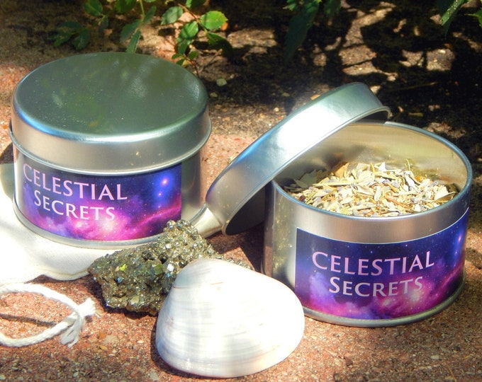 RITUAL SOAKER kit in a TIN - Hand-crafted with organic herbs including reusable cheesecloth bag - Wicca Pagan Spiritual Holistic