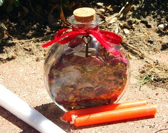 HECATE Goddess BOTTLE complete kit - includes charged bottle with stones & herbs, candles, petition, instructions Witch made Hand-crafted