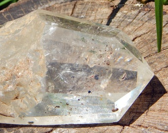 SUPER SILVER RUTILE Quartz 314g terminated point - Silver inclusions natural gemstone  - Reiki Wicca Pagan Geology gemstone specimen