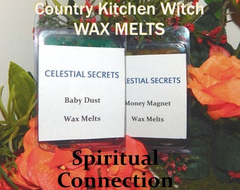 Spiritual Connection INTENTION WAX MELT, charged wax tart 6 piece - 100% Hand-crafted with herbs and essential oils - Pagan Wicca Witchcraft