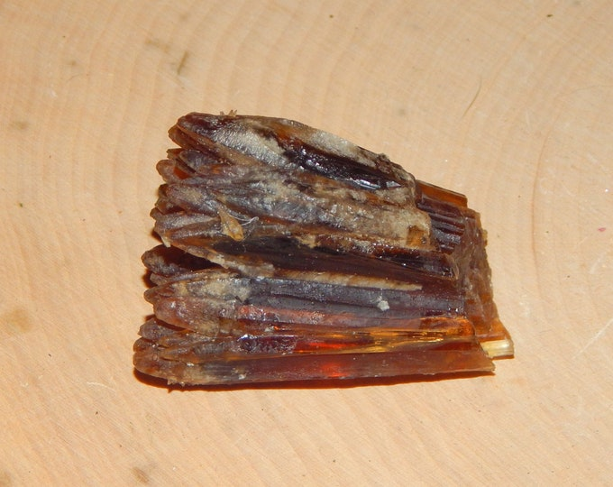 AMBER CALCITE brown orange rare gemstone - natural mineral 40 g - Reiki Wicca Pagan Geology gemstone specimen