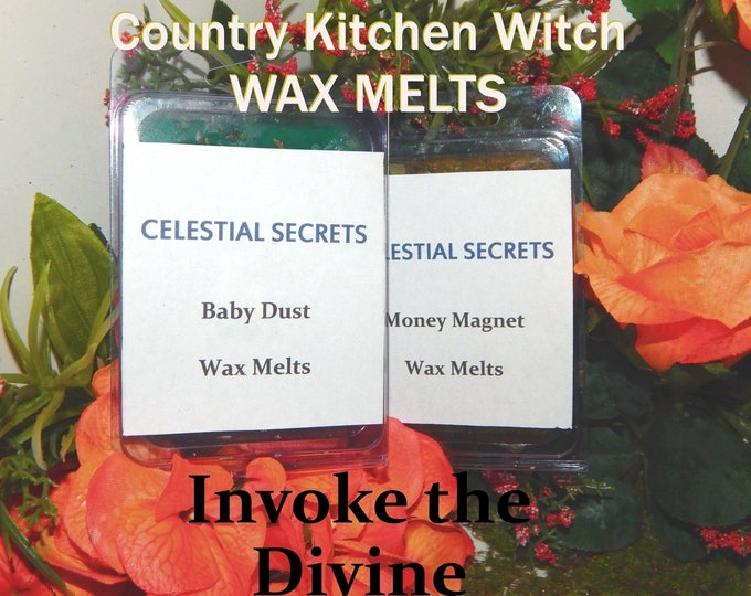 Invoke the Divine INTENTION WAX MELT, charged wax tart 6 piece - 100% Hand-crafted with herbs and essential oils - Pagan Wicca Witchcraft