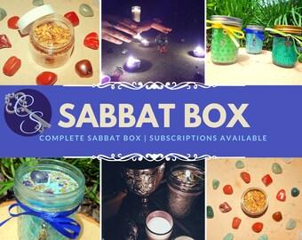 MABON SABBAT BOX complete kit- includes soy ritual candle, Herbal incense blend, Spiritual bath, Gems, ritual & correspondences page