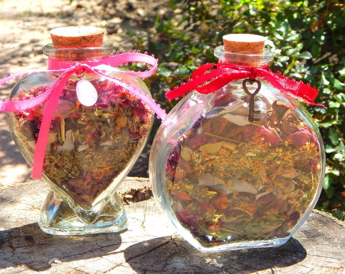 APHRODITE Goddess BOTTLE complete kit - includes charged bottle with stones & herbs, candles, petition, instructions Witch made Hand-crafted