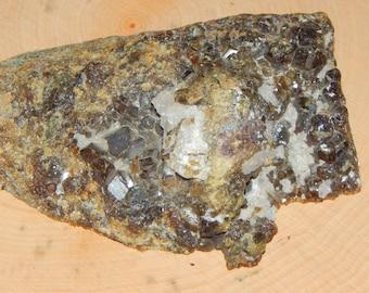 Andradite Garnet cluster on matrix from Pakistan - Reiki Wicca Pagan Geology birthstone gemstone specimen