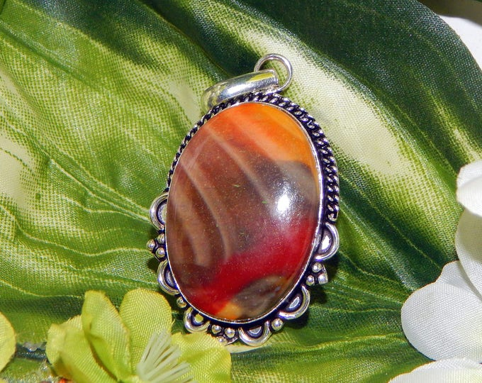 Redwing Grigori inspired vessel - Handcrafted Mookaite Jasper pendant necklace