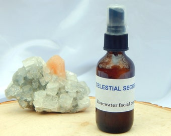 Rosewater GL'AMOUR Facial Toner Spray - 100% Hand-crafted with floral hydrolate and essential oils - Pagan Wicca Witchcraft