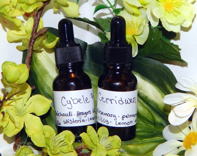 Goddess PERFUME OILS many sizes | for altar body anointing | High quality organic handmade with essential oils & herbs | New scents monthly