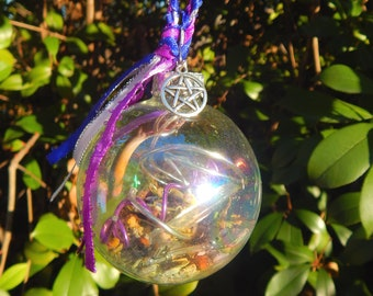 HECATE'S Witches' ball iridescent witch orb psychic protection vision healing energy - Triple Goddess Hekate Pagan Wiccan Wicca Pentacle