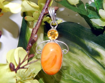 MAJESTIC Pegasus stallion inspired vessel - Handcrafted Peach Agate Morganite pendant with chain