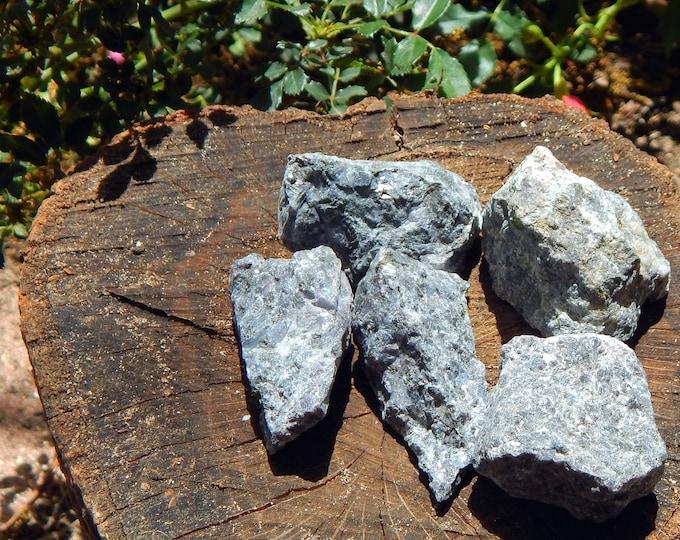 RAW Indigo Gabbro LARGE Merlinite natural gemstone - Reiki Wicca Pagan Geology gemstone specimen