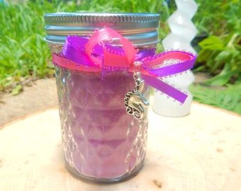 UNICORN HEART jar candle prayer candle LOVE, Healing, Serenity, Wisdom - Fixed & dressed - 100% Hand-crafted with soy wax, herbs and oil