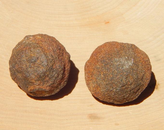 62g Moqui 'Marble' Set Shaman Stones male and female pair - Reiki Wicca Pagan Geology gemstone specimen