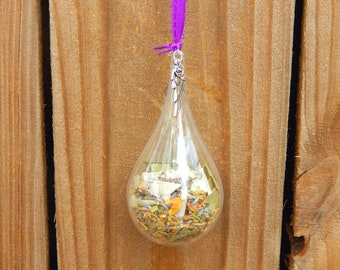 WITCHES' BALL unbreakable for PROTECTION plastic ornament with protective herb blend - Home decor talisman Pagan Wiccan Wicca
