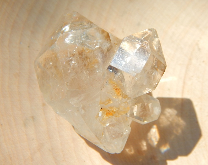 Big HERKIMER DIAMOND Double terminated Quartz from NY 30 gram - Water clear Reiki Wicca Pagan Geology gemstone specimen