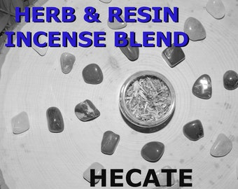 HECATE OFFERING Herb and Resin Incense Blend 2 oz - Handmade ritual incense blend Dark Moon Pagan Wiccan Witchcraft Spirit offering