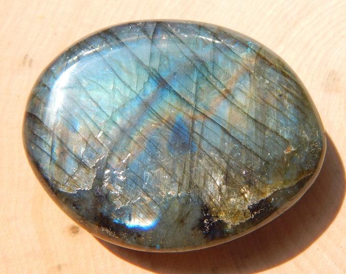 106g PURPLE Labradorite gemstone - Red, Orange, Blue and lavender Purple flash Spectrolite - Reiki Wicca Pagan Geology gemstone specimen