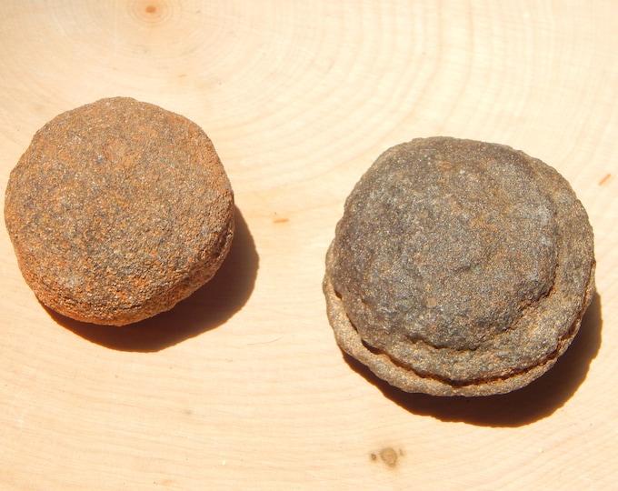 XL Moqui 'Marble' Set 134 gr Shaman Stones male and female pair - Reiki Wicca Pagan Geology gemstone specimen