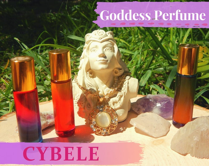 CYBELE Goddess PERFUME OIL many sizes | for altar body anointing | High quality organic handmade with essential oils & herbs