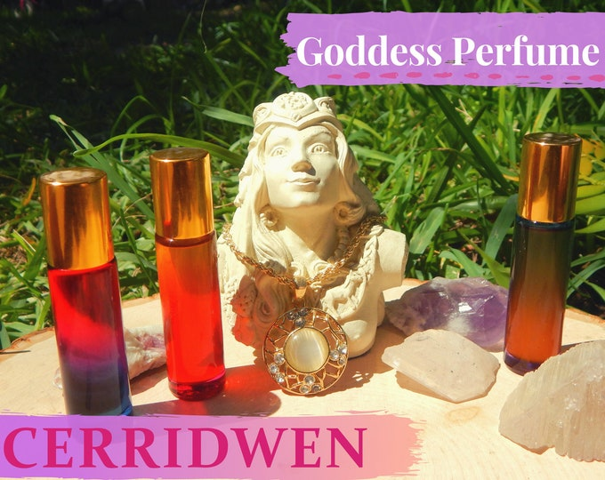 CERRIDWEN Goddess PERFUME OIL many sizes | for altar body anointing | High quality organic handmade with essential oils & herbs