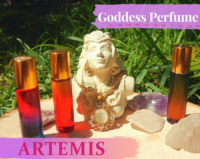 ARTEMIS Goddess PERFUME OIL many sizes   for altar body anointing   High quality organic handmade with essential oils & herbs