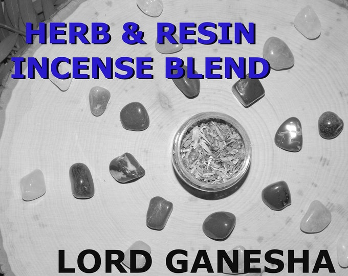 LORD GANESHA Herb and Resin Incense Blend 2 oz - Handmade ritual incense blend Ganesh Pagan Wiccan Witchcraft Spirit offering
