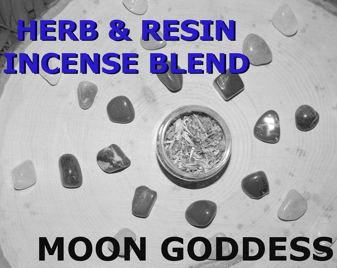 MOON GODDESS Herb and Resin Incense Blend 2 oz - Handmade ritual incense blend Selene Artemis Pagan Wiccan Witchcraft Spirit offering