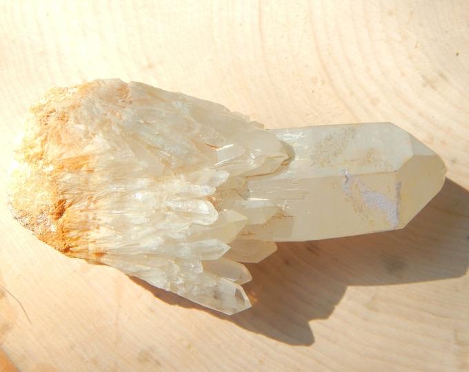 LARGE LIGHTBRARY Candle Quartz - 104g abundance crystal multi terminated from Madagascar - Reiki Wicca Pagan Geology gemstone specimen