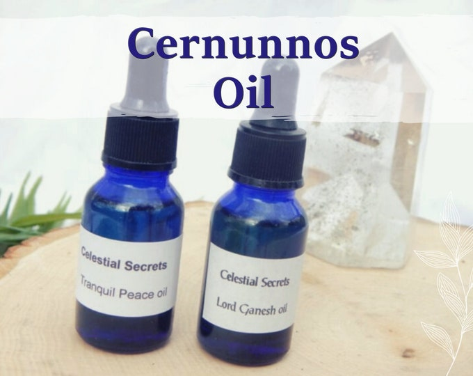 CERNUNNOS OIL 15ml - Controlling, Compelling, Commanding for candles altar anointing - handmade with essential oils and herbs