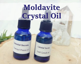 MOLDAVITE OIL 15ml - Psychic attunement, kundalini, spiritual awareness for candles altar anointing - handmade with essential oils & herbs
