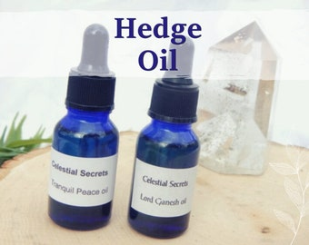 HEDGE OIL 15ml - astral projection, journeying, witches' flying oil for candles altar anointing - handmade with essential oils & herbs