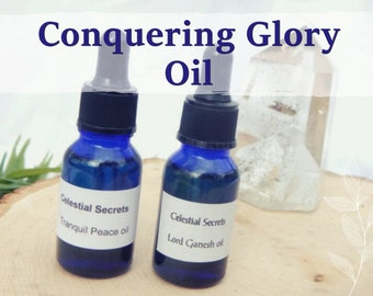 CONQUERING GLORY OIL 15ml - remove competition, overcome obstacles, success for candles altar anointing - handmade with essential oils
