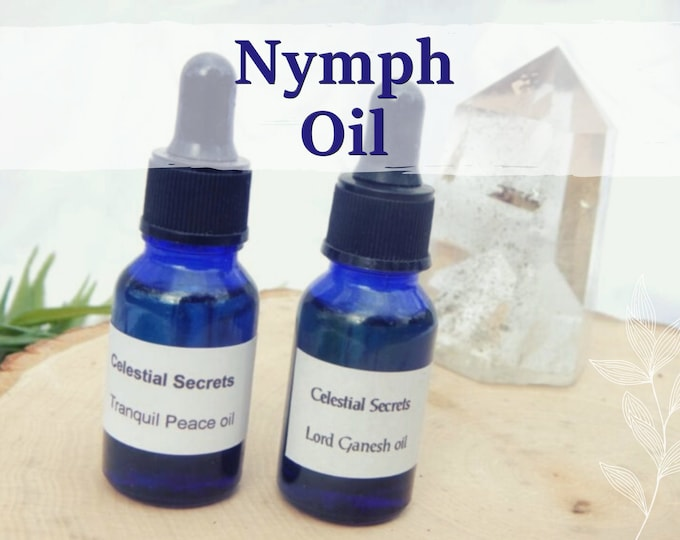 NYMPH OIL 15ml - Attraction, passion, sensuality oil for candles baths altar anointing - handmade with essential oils and herbs
