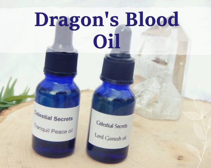 DRAGON'S BLOOD OIL 15ml - Connect to dragons, protection, manifestation, luck for candles altar anointing - handmade with essential oils