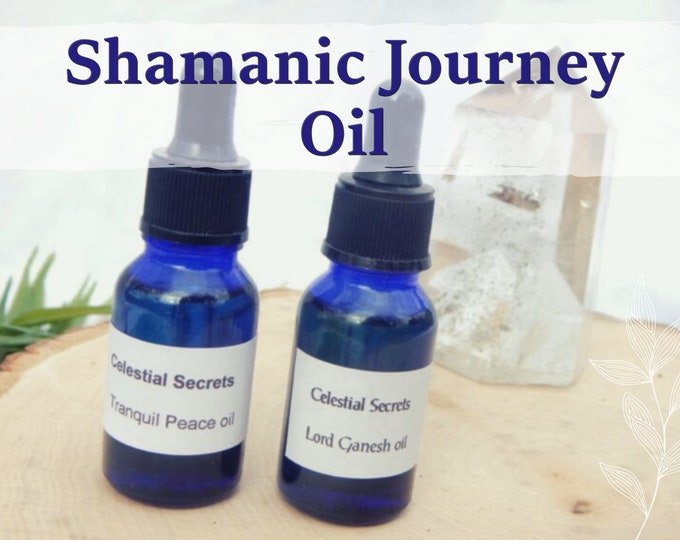 SHAMANIC JOURNEY OIL 15ml - Earth magick, Shamanic ritual oil for candles altar anointing - handmade with essential oils & herbs