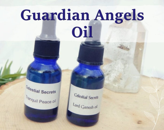 GUARDIAN ANGELS OIL 15ml - Connect to angels, protection for children apply to candles altar anointing - handmade with essential oils & herb