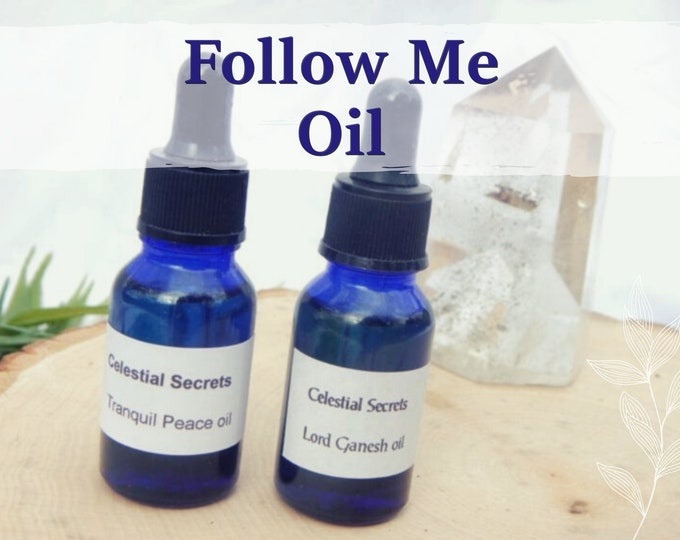 FOLLOW ME OIL 15ml - Attraction, romance, seduction for candles altar anointing - handmade with essential oils & herbs