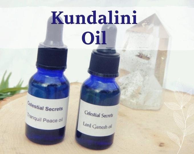 KUNDALINI OIL 15ml - Kundalini awakening, spiritual awareness, astral travel for candles altar anointing - handmade with essential oils