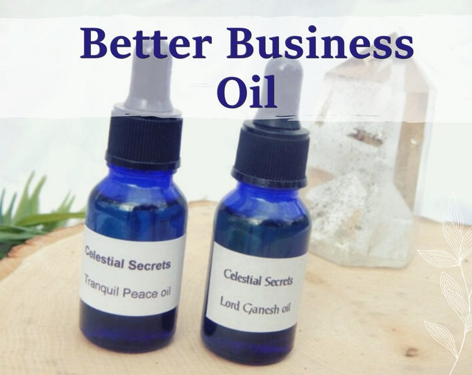 BETTER BUSINESS OIL 15ml - Success, Business, good finances for candles altar anointing - handmade with essential oils & herbs