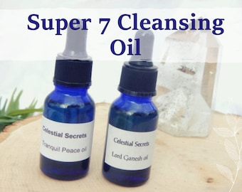 CLEANSING OIL 15ml - Cord cutting, aura shielding, balance, centering for candles altar anointing - handmade with essential oils & herbs